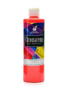 Chroma Inc. ChromaTemp Artists' Tempera Paint fluorescent red 500ml [PACK OF 3 ]