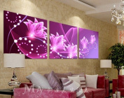 ASIA MODERN ABSTRACT WALL ART PAINTING ON CANVAS NEW Style ! (NO FRAME?with Master the drawing of the Orchid of abstract painting