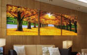 ASIA MODERN ABSTRACT WALL ART PAINTING ON CANVAS NEW Style ! (NO FRAME?with The morning Golden Road