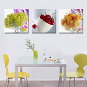 3pc canvas NO frame. Modern Abstract Art Painting Romantic Decor with A bowl of fruit