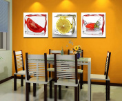 3pc canvas NO frame. Modern Abstract Art Painting Romantic Decor with Frozen fruit