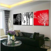 ASIA MODERN ABSTRACT WALL ART PAINTING ON CANVAS NEW Style ! (NO FRAME?with Abstract trees rich rich luck