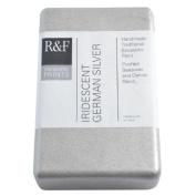 R & F Encaustic 333ml Paint, Iridescent Ger Silver