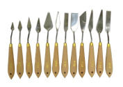 NEW ARTIST PALETTE KNIFE SET -12 piece TOOLS - Supplies