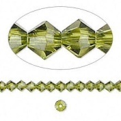 . Crystal 5328 4mm XILION Olivine (Green) Bicones - 48 Pack