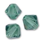 . Crystal 5328 4mm XILION Erinite (Green) Bicones - 48 Pack