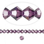 . Crystal 5328 4mm XILION Amethyst Bicones - 48 Pack