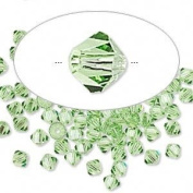 . Crystal 5328 4mm XILION Peridot (Green) Bicones - 48 Pack