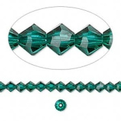 . Crystal 5328 4mm XILION Emerald (Green) Bicones - 48 Pack