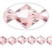 . Crystal 5328 4mm XILION Light Rose (Pink) Bicones - 48 Pack