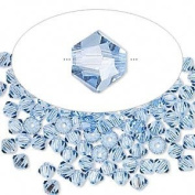. Crystal 5328 4mm XILION Light Sapphire (Blue) Bicones - 48 Pack