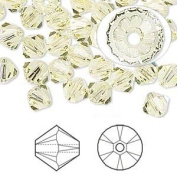 . Crystal 5328 4mm XILION Jonquil (Yellow) Bicones - 48 Pack
