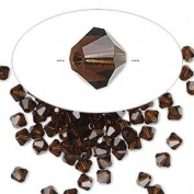 . Crystal 5328 4mm XILION Mocca Bicones - 48 Pack