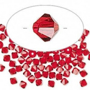 . Crystal 5328 4mm XILION Light Siam (Red) Bicones - 48 Pack