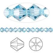 . Crystal 5328 4mm XILION Aquamarine Bicones - 48 Pack