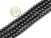 Round Black Hematite Beads Strand 38cm Jewellery Making Beads