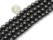 Round Black Hematite Beads Strand 38cm Jewellery Making Beads