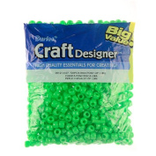Pony Beads, Lime OP, 6 x 9mm, 720pc Pkg