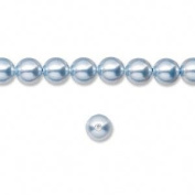 6mm Round. Light Blue Pearls (5810) Package of 50