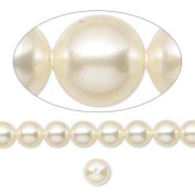 6mm Round. Cream Pearls (5810) Package of 50