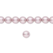 6mm Round. Powder Rose (Pink) Pearls (5810) Package of 50