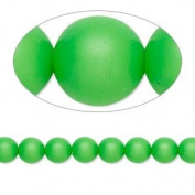 6mm Round. Neon Green Pearls (5810) Package of 50
