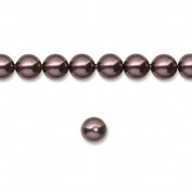 6mm Round. Burgundy Pearls (5810) Package of 50