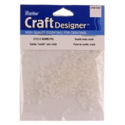 Glass Rocaille Seed Beads, Crystal, 8 grammes