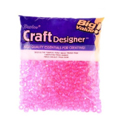 Pony Beads, Pink, 6 x 9mm, 720pc Pkg