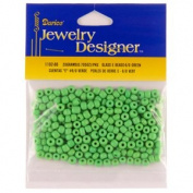 "6/0 Glass ""E"" Beads, Green, 20 Gramme Pkg"