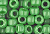 GREEN PEARL CROW BEADS PONY BEADS