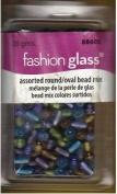 Fashion Glass Beads - Multi-coloured Oval Mix - #88605