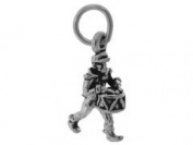 Sterling Silver Drummer Charm