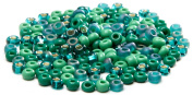Beaders Paradise LT8S364 Czech Glass Emerald Mix 8/0 E-Beads in a Tube