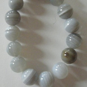 Agate 14mm Round Beads (2)