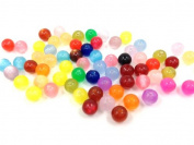 Adored Pony Beads Multi Colour 100 Pcs 11mm DIY Round Shape Plastic Jelly Beads ~Jewellery Making~