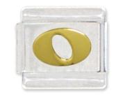 Letter O Italian Charm Bracelet Link