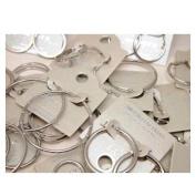 Mixed Carded Silver Tone Metal Hoop Earrings