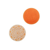 Lillypilly Aluminium Circle Stamping Orange W/ Ornamental Pattern 16mm