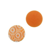 Lillypilly Aluminium Circle Stamping Orange W/ Flower Bursts 16mm