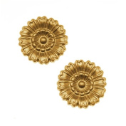 Nunn Design Solid Brass Stamping Medium Marigold Flower Embellishment 16mm