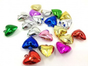 Adored Multi Colour Blinking 20 Pcs Heartshape Christmas and Party Jingle Bells, Pet Bells, Door Bells
