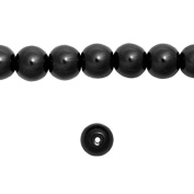 1 Strand Mystic Black Glass Pearl Spacer Round Loose Beads Fit Necklace Bracelets Wholesale 6x6x6mm 150pcs GP0002-30