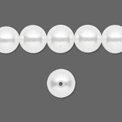 80pc Glass Pearls, Beads, White, 8mm Round