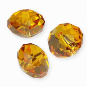 "20 pcs. Crystal 5040 Rondelle 4mm ""Topaz"""