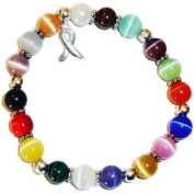Stretchy Multi Cancer Packaged Awareness Bracelet- 8mm