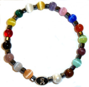 Men's Packaged Cancer Awareness Bracelet 18 colours Stretch