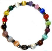 Men's Packaged Cancer Awareness Bracelet 18 colours Stretch