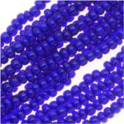 Czech Seed Beads 11/0 Cobalt Blue Silver Foil Lined