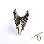 Incredible Flying Wings with Crystal Rhinestone Adjustable Alloy Ring 1pcs